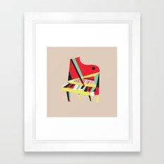 Cubist Piano Framed Art Print