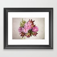 Birthday flowers Framed Art Print