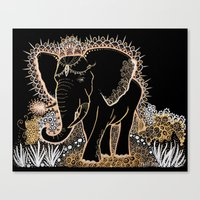 Golden Elephant Canvas Print