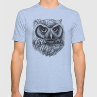 Intense Owl G137 Mens Fitted Tee Athletic Blue SMALL