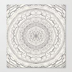 Black & White Lace Canvas Print
