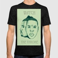 Watch The Throne II Mens Fitted Tee Tri-Black SMALL