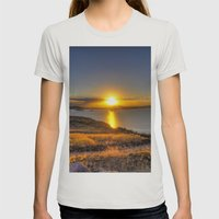 A Titicaca Sunset Womens Fitted Tee Silver SMALL