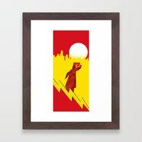 Polygon Heroes Rise 4 Framed Art Print