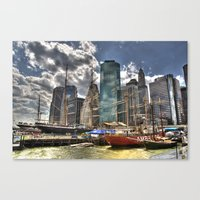 NYC Harbor, south seaport Canvas Print