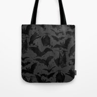 Tote Bag featuring BATS III by DIVIDUS