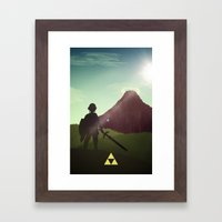 In The Face of Death (Mountain) Framed Art Print