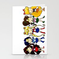 Sailor Scouts 5 Stationery Cards