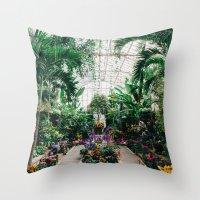 The Main Greenhouse Throw Pillow
