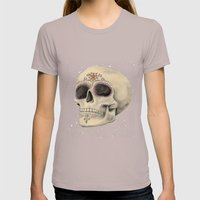 Sugar Skull Womens Fitted Tee Cinder SMALL