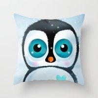 Joc The Penguin Throw Pillow
