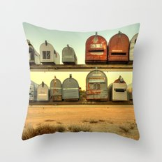 Saturday's Mail Throw Pillow