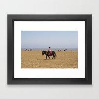 Donkey Ride Framed Art Print