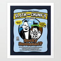 Sloth And Chunk's Ice Cr… Art Print