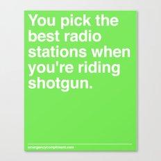 Best Radio Stations Canvas Print