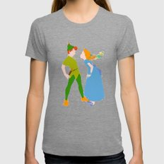 PETER & WENDY Womens Fitted Tee Tri-Grey SMALL