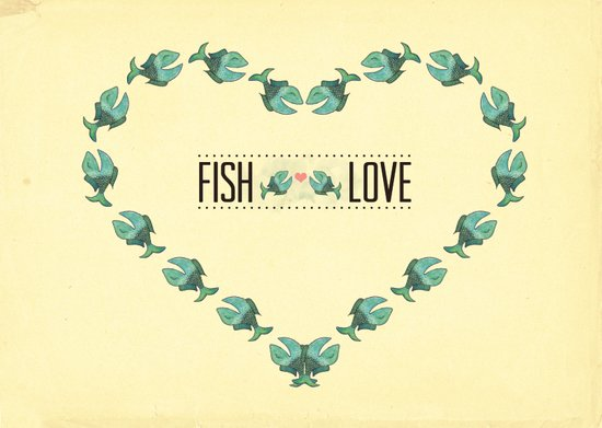 fish love Art Print