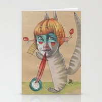 CAT CLOWN Stationery Cards