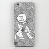 GURL... I'M GAY! (Peter Pan) iPhone & iPod Skin