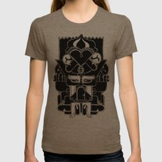 Duck Totem Womens Fitted Tee Tri-Coffee SMALL