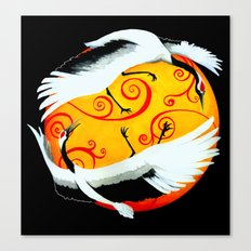 Japanese (Red-Crowned) Cranes Canvas Print