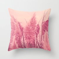 Pampas Pink Throw Pillow