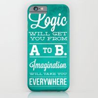 iPhone & iPod Case featuring Logic will get you from A to B... Imagination will take you everywhere! by LONO Creative