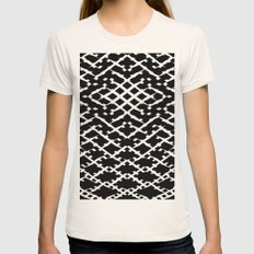 Pattern #5 Womens Fitted Tee Natural SMALL