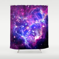 Shower Curtain featuring Galaxy. by Matt Borchert