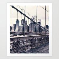 BROOKLYN BRIDGE BY Cd KIRVEN Art Print