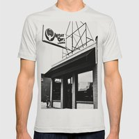 The Night Owl Mens Fitted Tee Silver SMALL