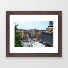 Smoker in Rome Framed Art Print