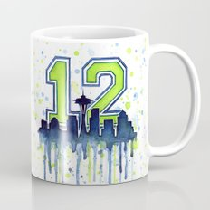 Seahawks 12th Man Fan Ar… Mug