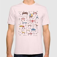 things with wheels Mens Fitted Tee Light Pink SMALL