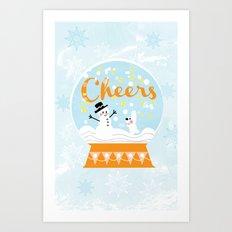 Snow globe friends Art Print