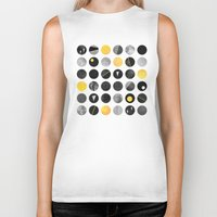 Dots / Yellow & Black Biker Tank