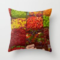 Colorful Candies Throw Pillow