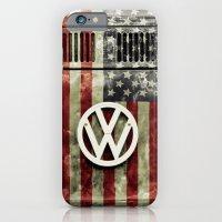 VW Retro US Flag iPhone 6 Slim Case