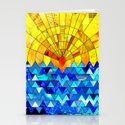 Sun & Sea Collage Stationery Cards