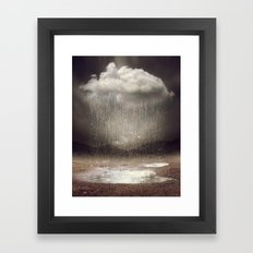 It's Okay. Even the Sky Cries Sometimes. Framed Art Print