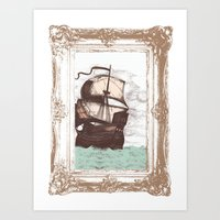 Old Clipper Ship Art Print
