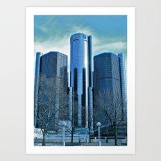Detroit Renaissance Center (Ren Cen) GM Headquarters Art Print