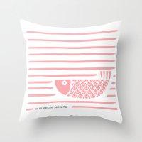 PIXE 2 (light pink) Throw Pillow