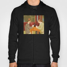 Card players by Cezanne Hoody