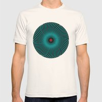 Circle Study No. 419 Mens Fitted Tee Natural SMALL