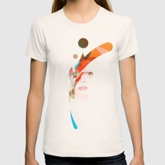 Bowie - Aladdin Sane Womens Fitted Tee Natural SMALL
