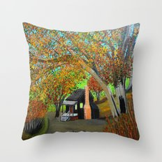 Cabin for two Throw Pillow