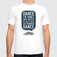Platypus The Wise Mens Fitted Tee White SMALL