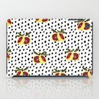 Blood Orange And Dots iPad Case
