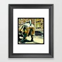 This Bull Has Massive Ba… Framed Art Print
